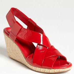 NWOT COLE HAAN Air Dinah 85 Wedge Red Sandal- 7.5
